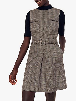 Oasis Check Utility Dress, Multi