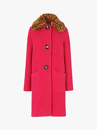 L.K.Bennett Aster Wool Blend Cocoon Coat, Pink