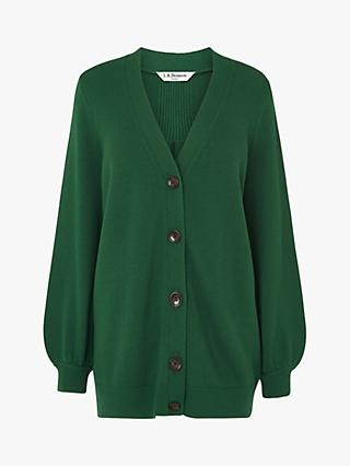 L.K.Bennett Rosa Wool Blend Cardigan, Green