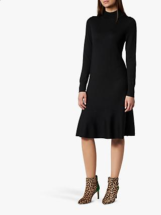 L.K.Bennett Flossy Merino Wool Dress, Black