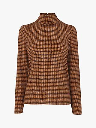 L.K.Bennett Eileen Jersey Top, Brown