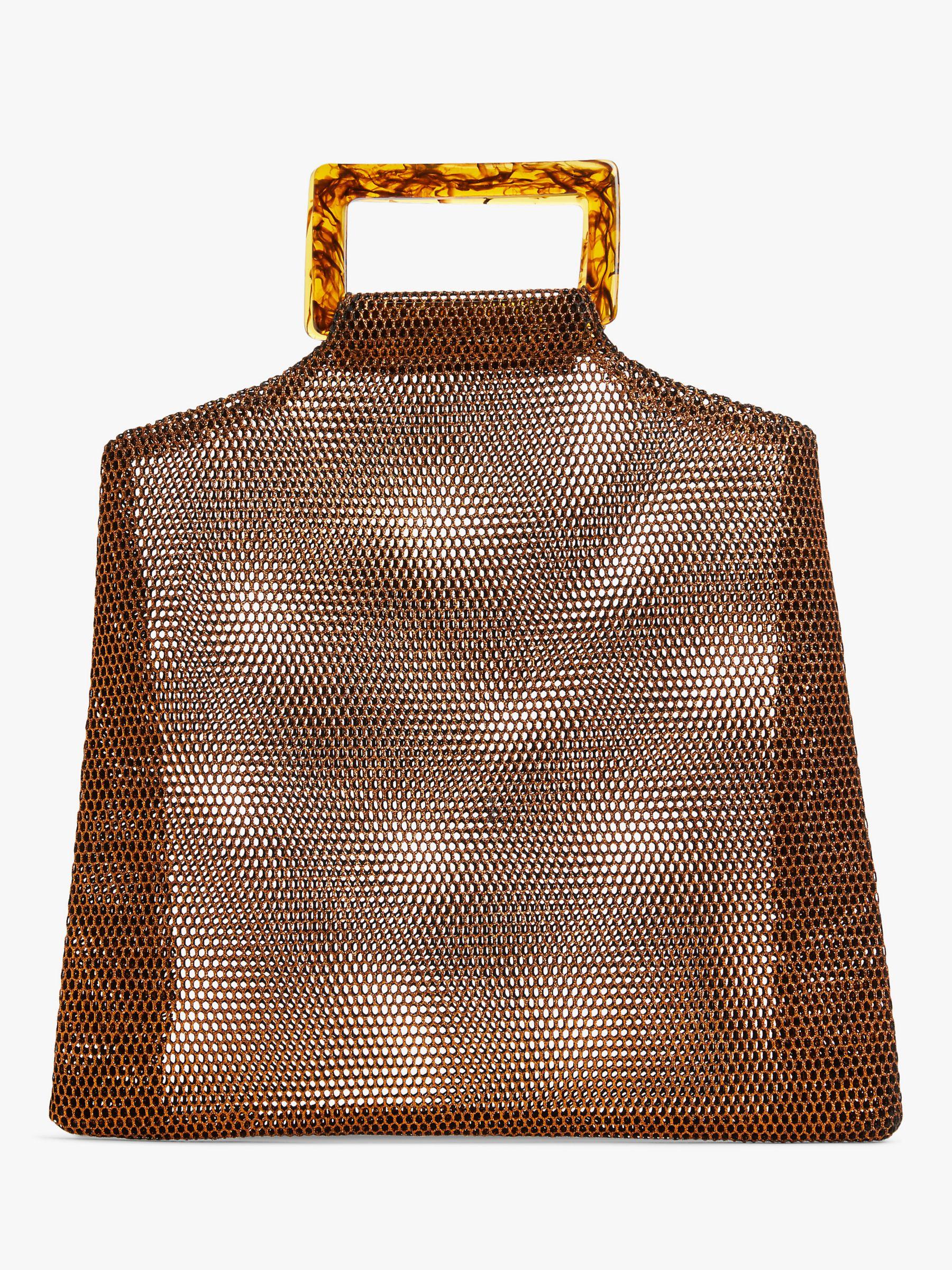 Becksondergaard Becksondergaard Glimmer Embellished Clutch Bag, Black/Silver
