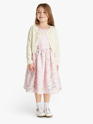 John Lewis & Partners Heirloom Collection Girls' Embroidered Cardigan, Natural