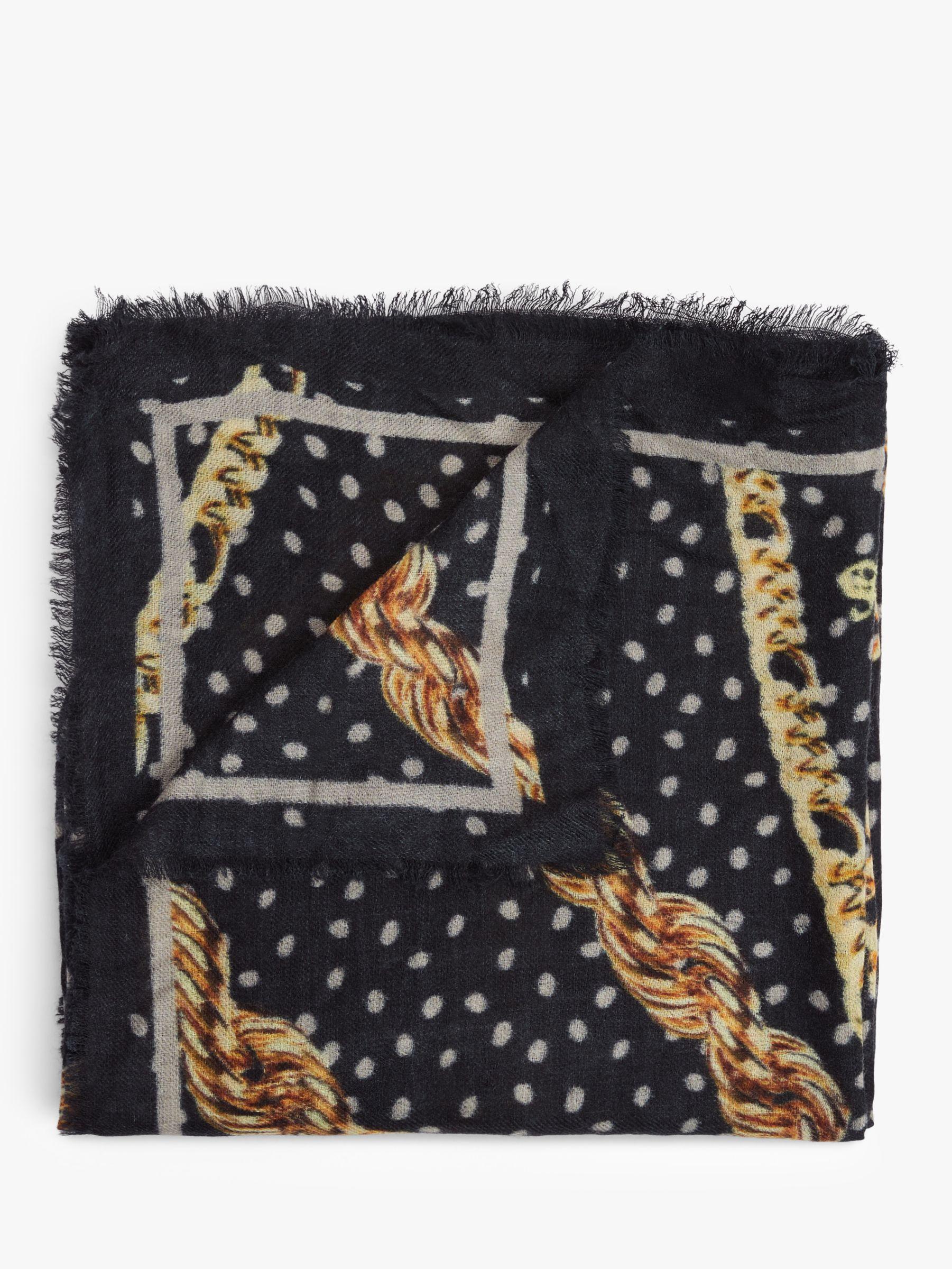 Becksondergaard Becksondergaard Harly Print Wool Scarf, Black