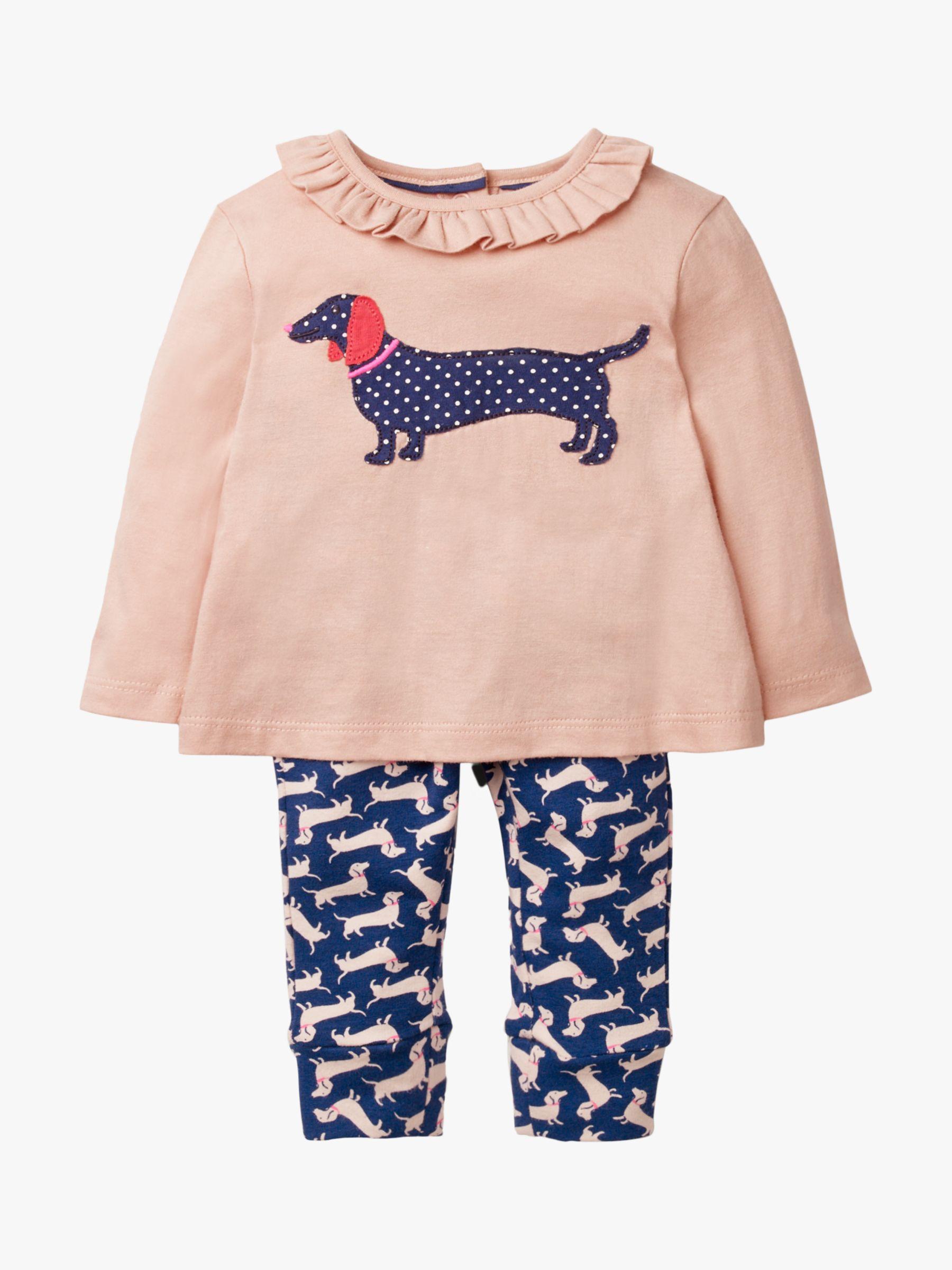 NEW EX BABY MINI BODEN DUCKS  DOG APPLIQUE JERSEY TOP LEGGING PLAY SET