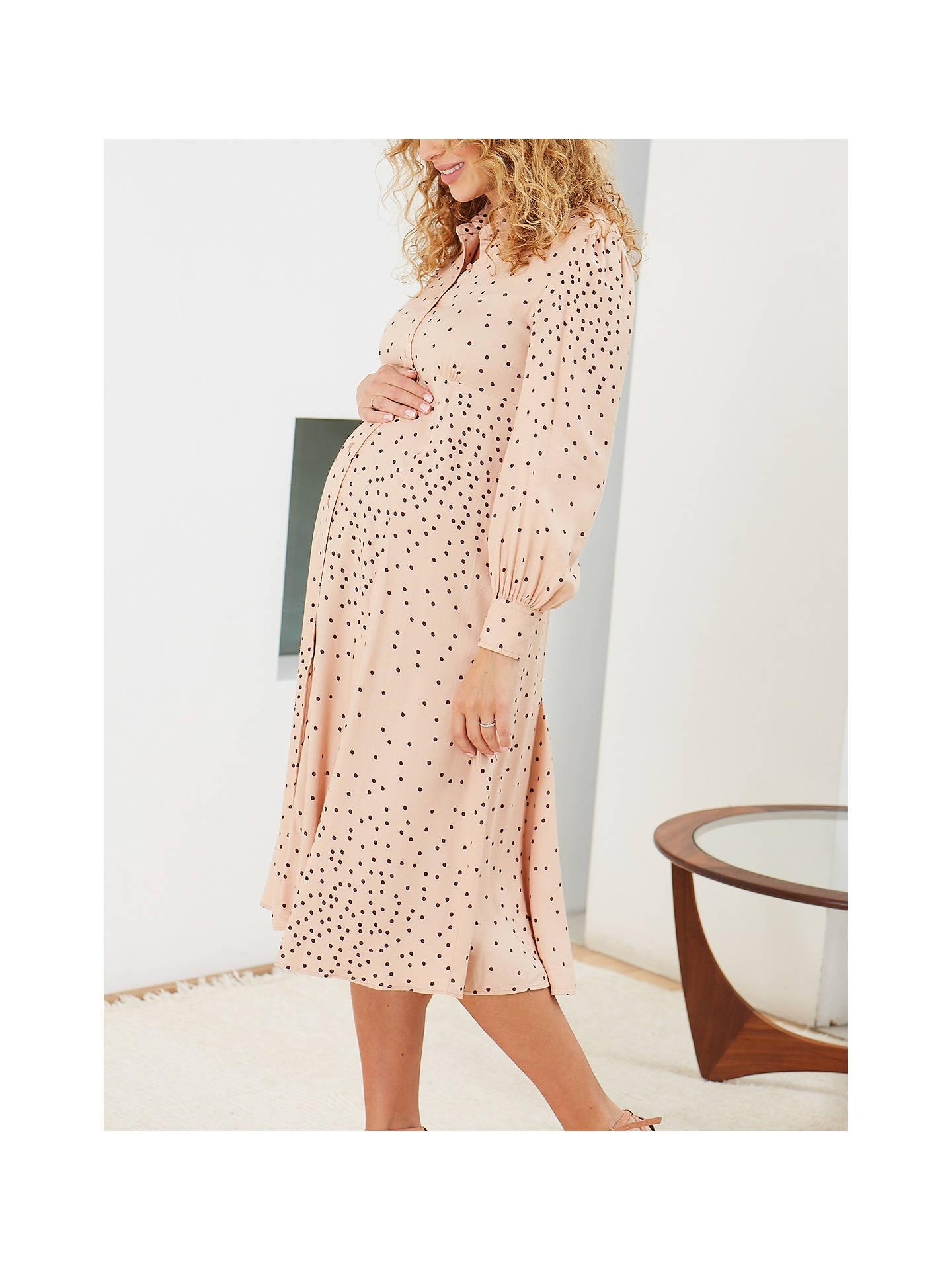 Isabella Oliver Juniper Maternity Dress Light Peach At John Lewis Partners