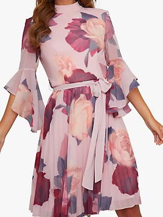 Chi Chi London Jessamy Floral Dress, Pink/Multi