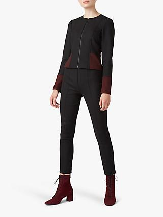 Hobbs Corrine Jacket, Black/Bordeaux