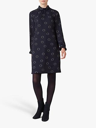Hobbs Clarice Shift Dress, Navy/Black