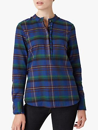 Hobbs Kirsten Cotton Shirt, Blue/Multi