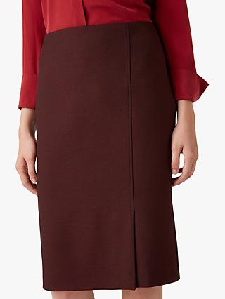 Hobbs Corrine Skirt, Black/Bordeaux