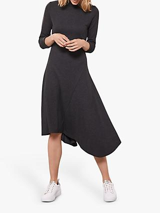 Mint Velvet Jersey Knit Midi Dress, Charcoal