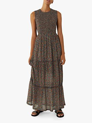 Warehouse Ditsy Floral Maxi Dress, Multi