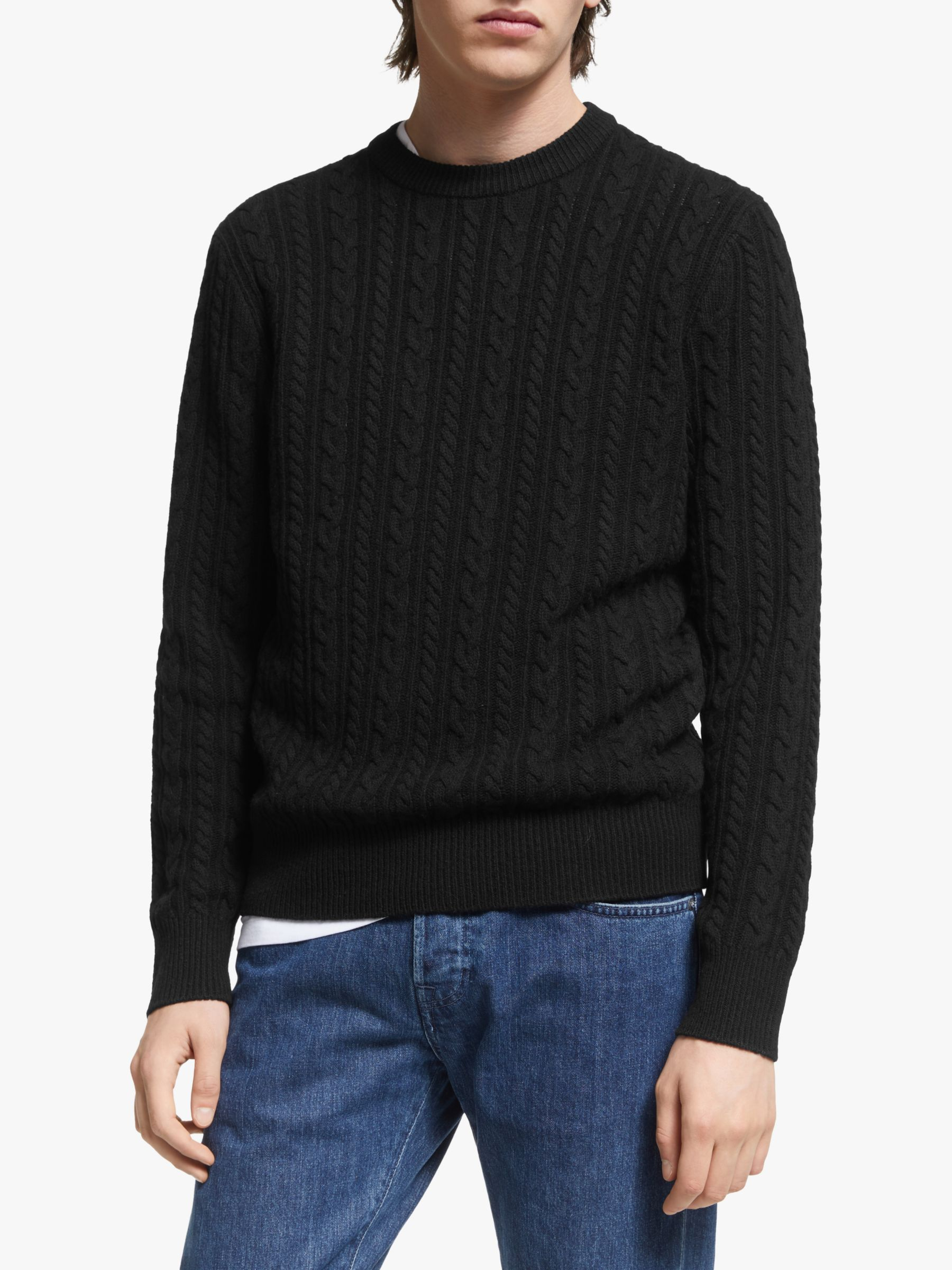 J.LINDEBERG J.Lindeberg Gregor Soft Cable Sweater, Black