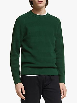 J.Lindeberg Randers Wool Cotton Sweater, Green Fountain