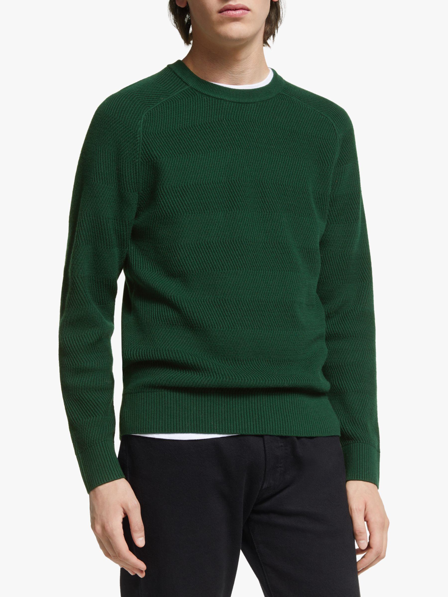 J.LINDEBERG J.Lindeberg Randers Wool Cotton Sweater, Green Fountain