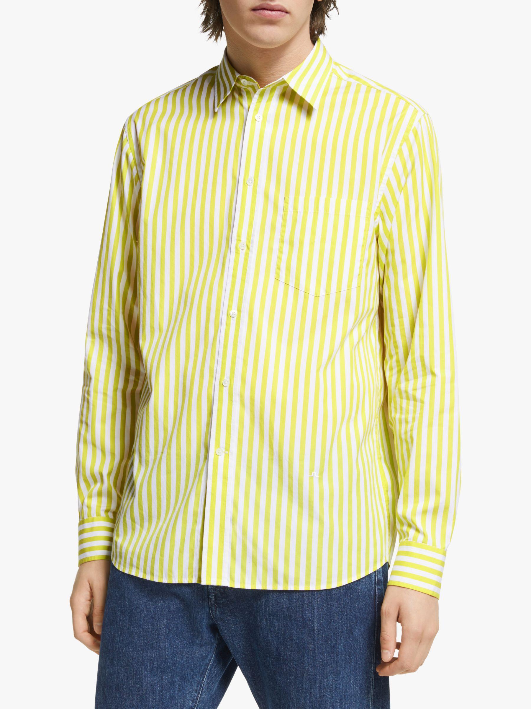 J.LINDEBERG J.Lindeberg Daniel Striped Cotton Shirt, Acid Dreams