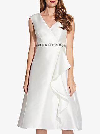 Adrianna Papell Tea Length Mikado Dress, Ivory