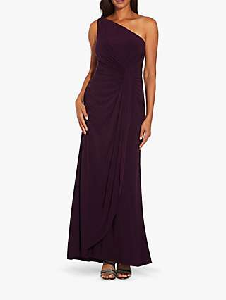Adrianna Papell One Shoulder Jersey Dress, Currant
