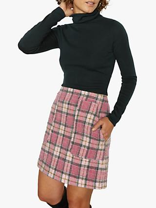 Jigsaw Tartan Mini Skirt, Pink