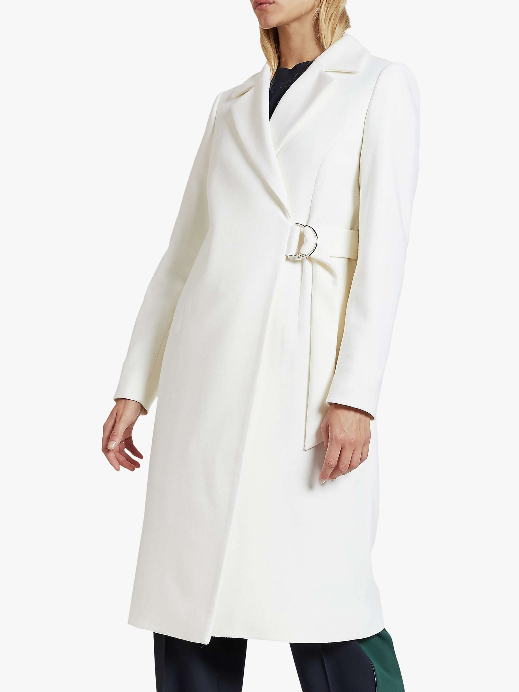 Ted Baker Dezpina Wool Blend Belted Wrap Coat, Natural Ivory by Ted Baker