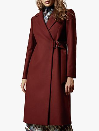 Ted Baker Dezpina Wool Blend Belted Wrap Coat