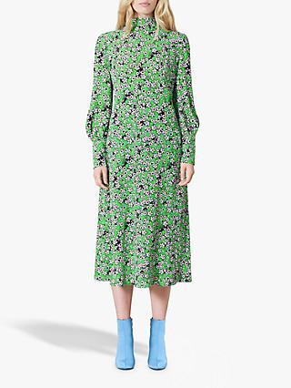 Finery Isla Floral Dress, Green