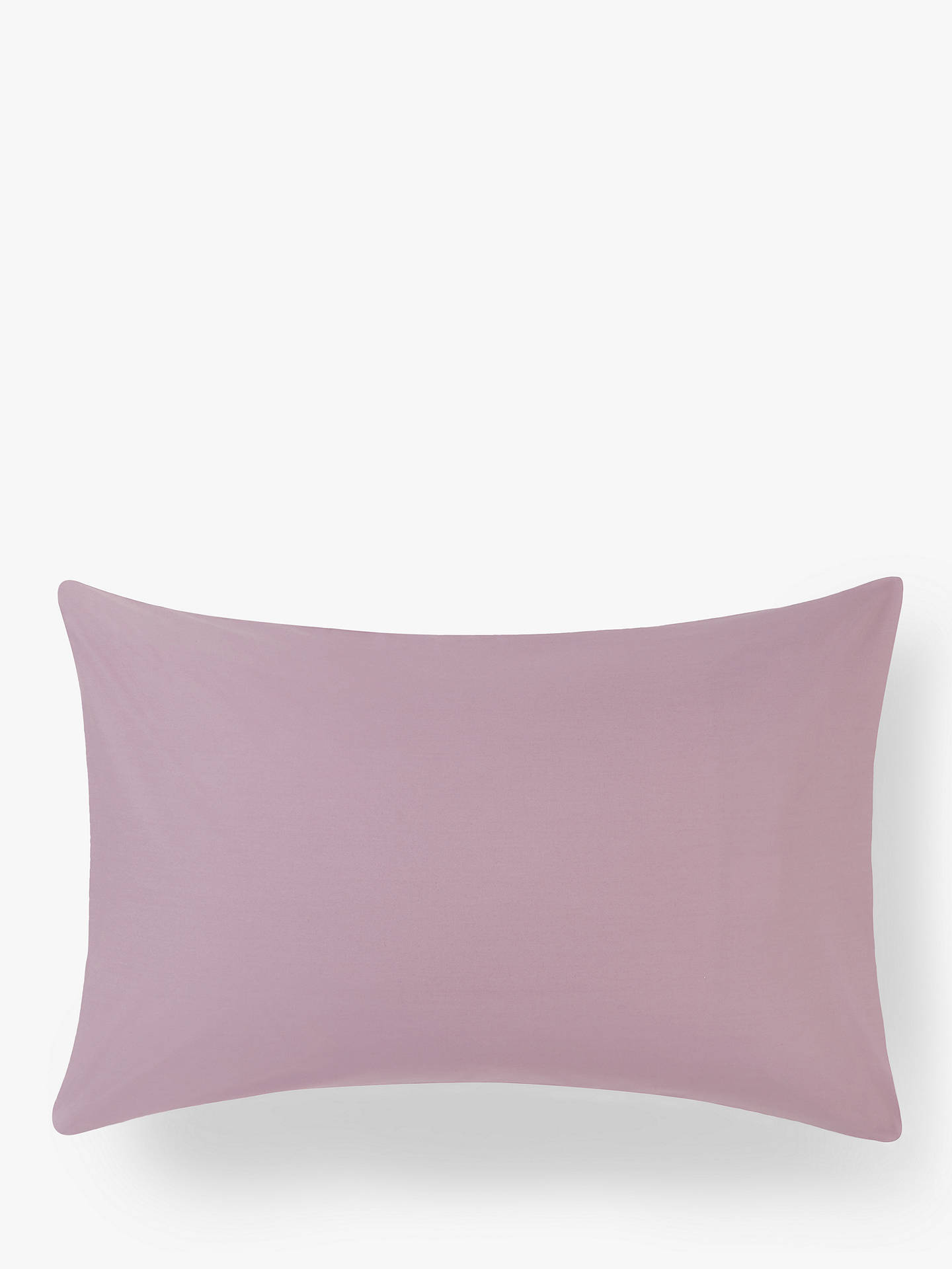 Buy John Lewis & Partners 200 Thread Count Cotton Standard Pillowcase, Amethyst Online at johnlewis.com