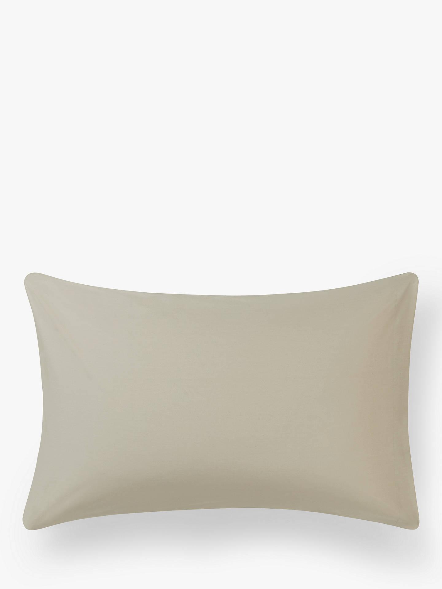 Buy John Lewis & Partners 200 Thread Count Cotton Standard Pilowcase, Latte Online at johnlewis.com