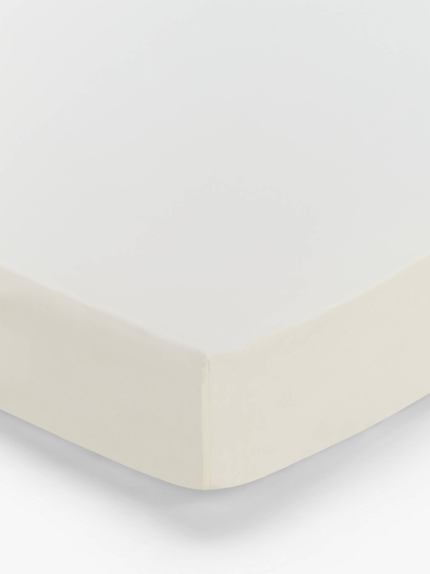 Buy John Lewis & Partners 200 Thread Count Cotton Standard Fitted Sheet, Double, Cream Online at johnlewis.com