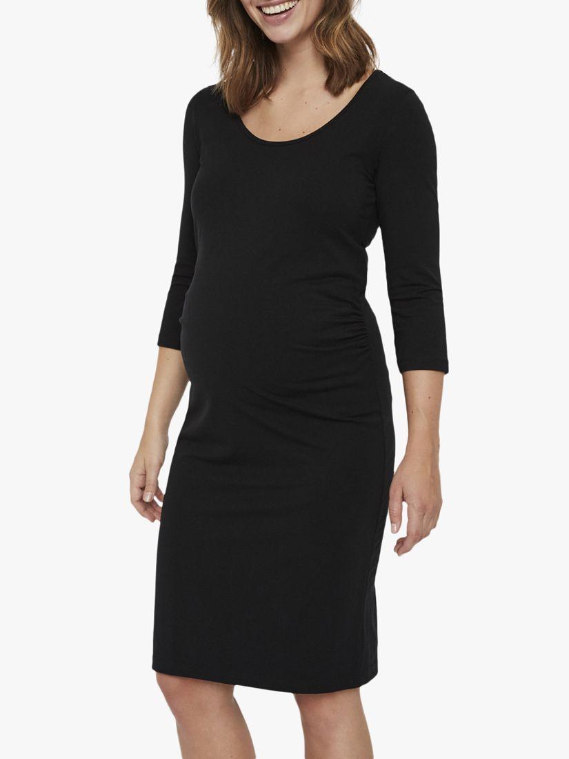 Mamalicious Mamalicious Lea Jersey Maternity Dress, Black