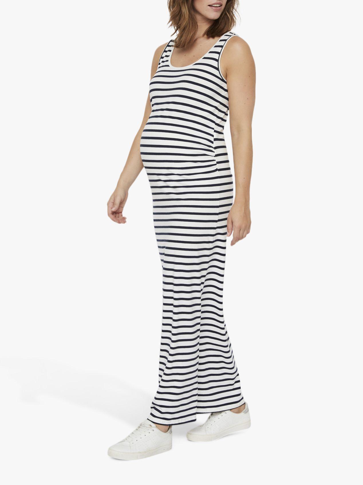 Mamalicious Mamalicious Lea Organic Cotton Stripe Maternity Dress, Multi