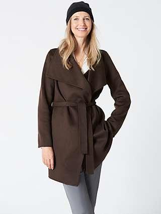 Winser London Lauren Wrap Wool Blend Short Coat