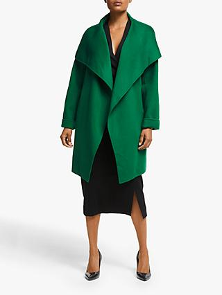 Winser London Lauren Wrap Wool Blend Short Coat