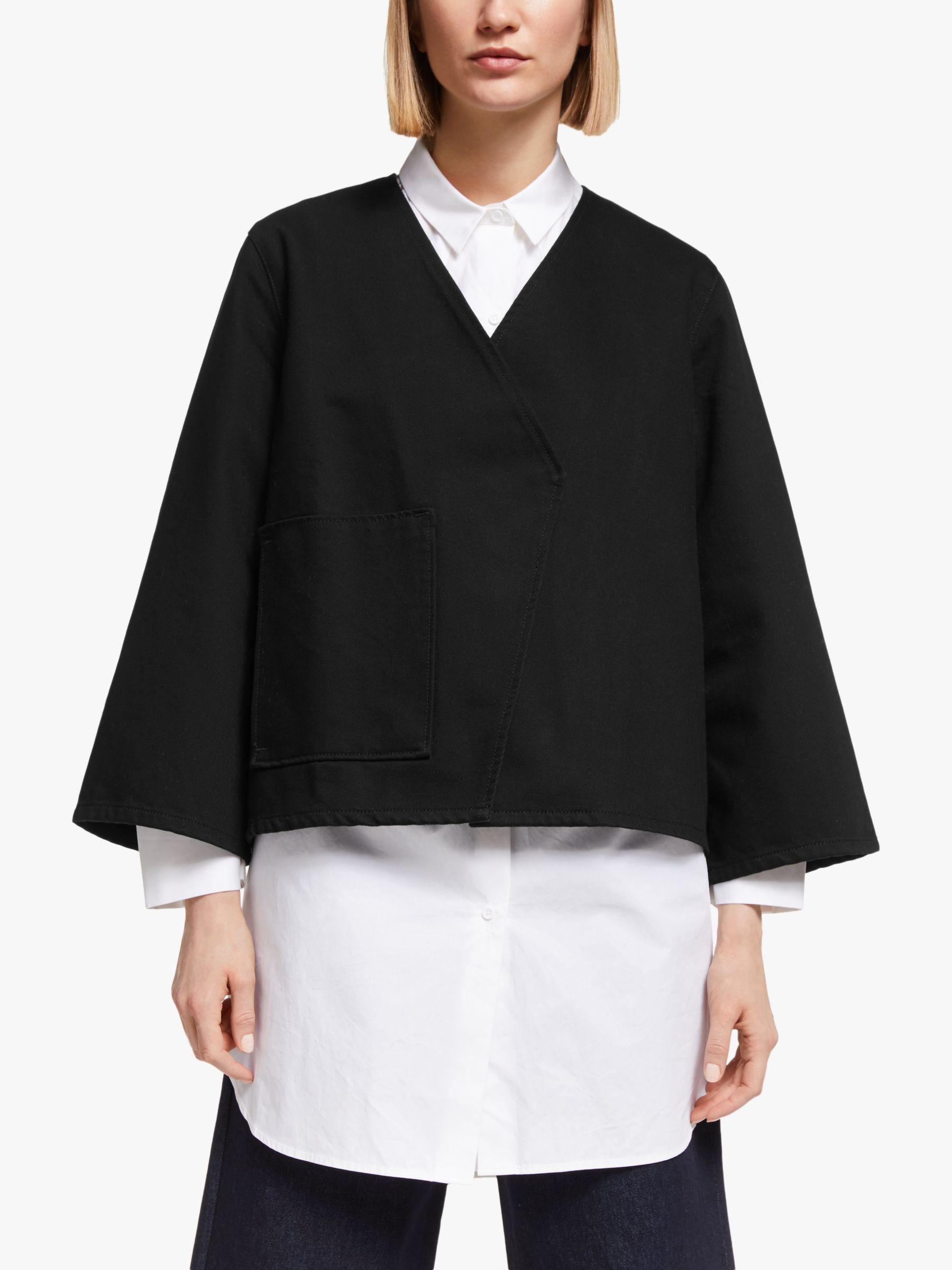 Kin Kin Denim Wrap Jacket, Black