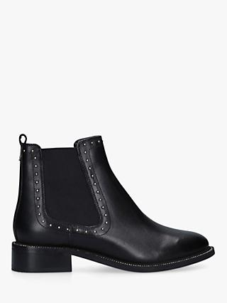 Carvela Thank Studded Leather Chelsea Boots, Black