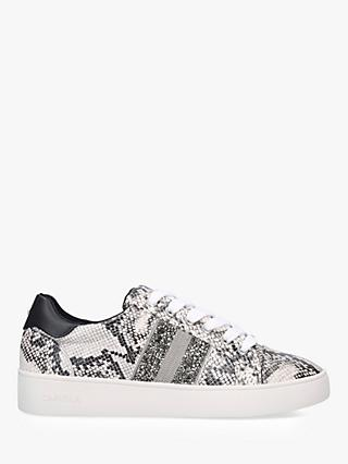 Carvela Luminous Embellished Low Top Trainers, Snakeskin Print