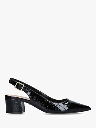 Carvela Aspire Croc Slingback Court Shoes