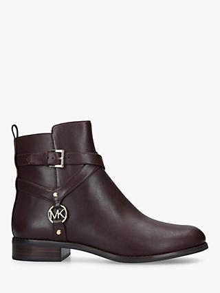 MICHAEL Michael Kors Preston Leather Flat Ankle Boots