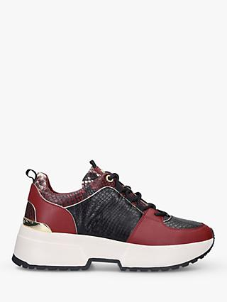 MICHAEL Michael Kors Cosmo Lace Up Trainers, Black/Red