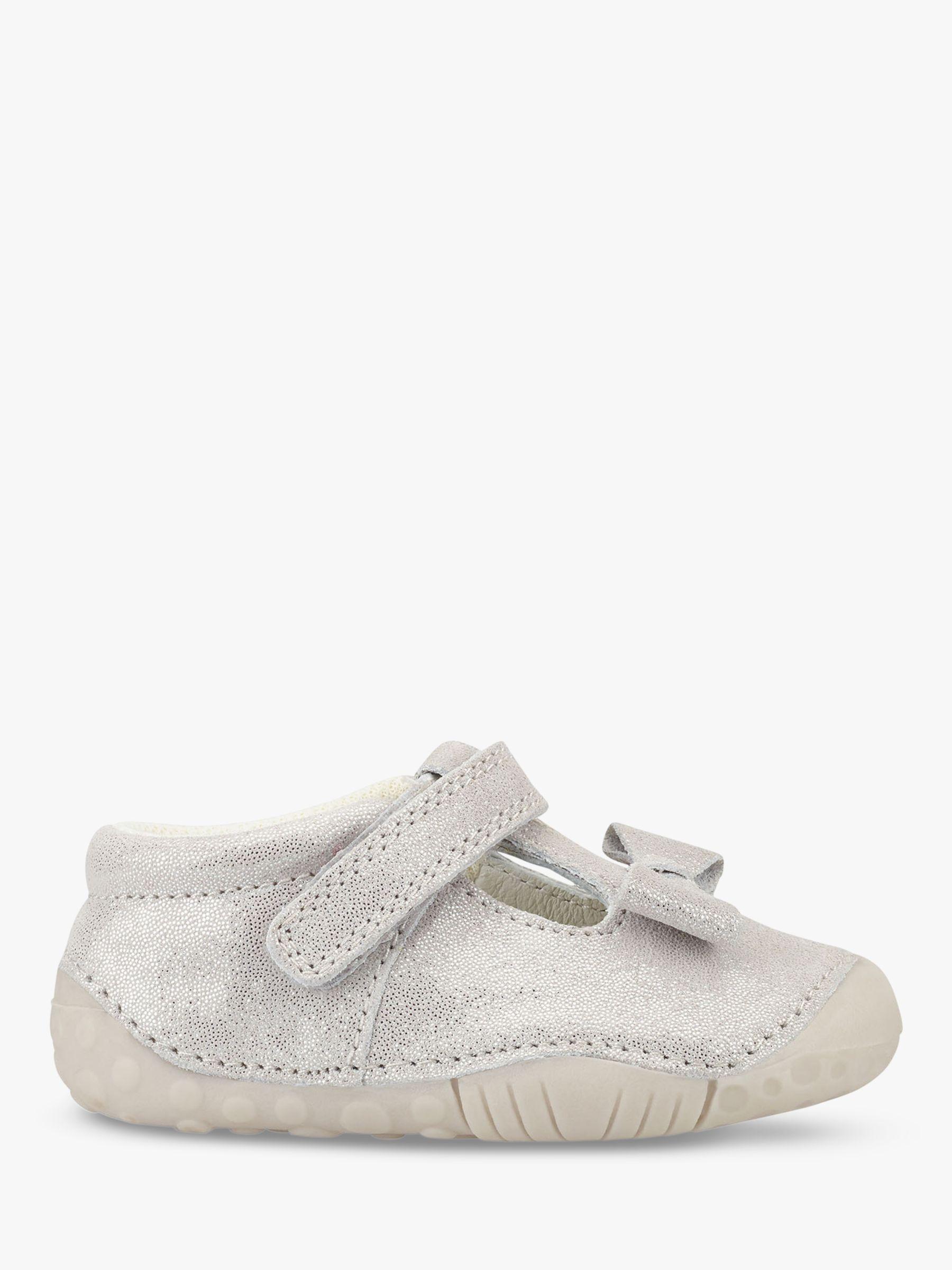 Start-Rite Start-rite Children's Wiggle T-Bar Pre-Walker Shoes, Pale Grey Glitter
