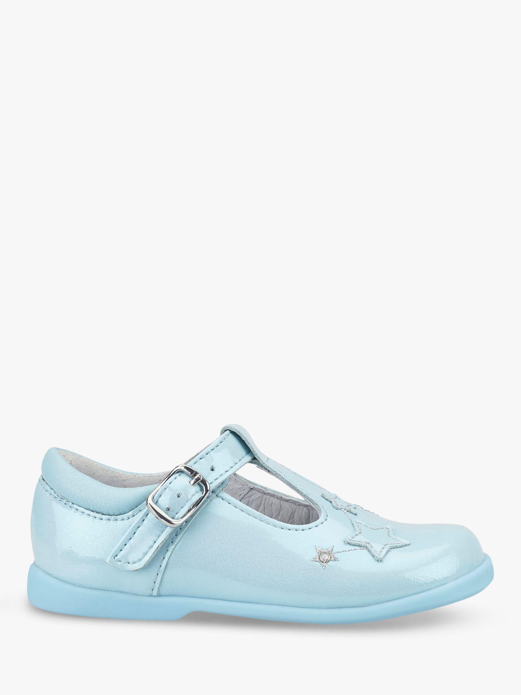 Start-Rite Start-rite Children's Star Gaze T-Bar Shoes, Blue Glitter Patent