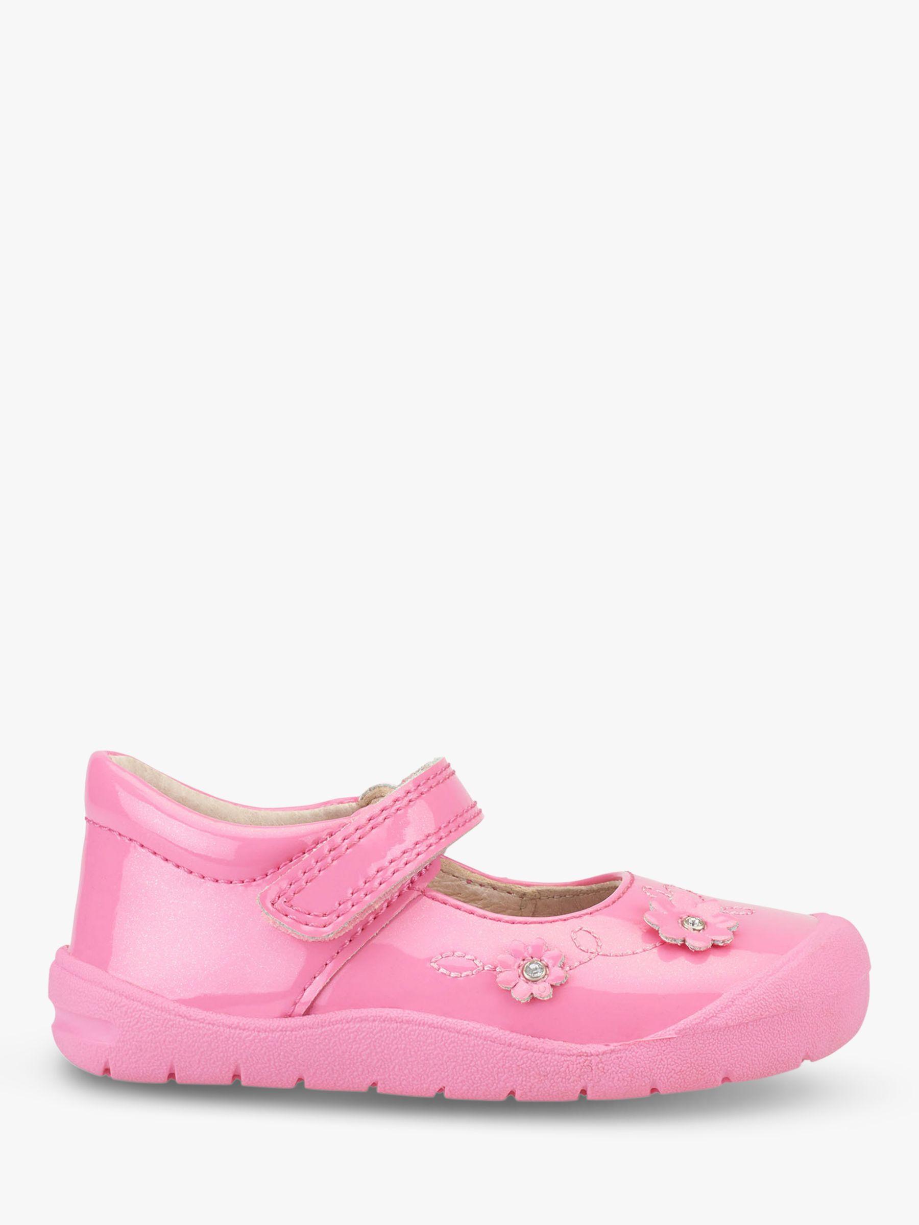 Start-Rite Start-rite Children's Flex T-Bar Riptape Pre-Walker Shoes, Bright Pink Glitter
