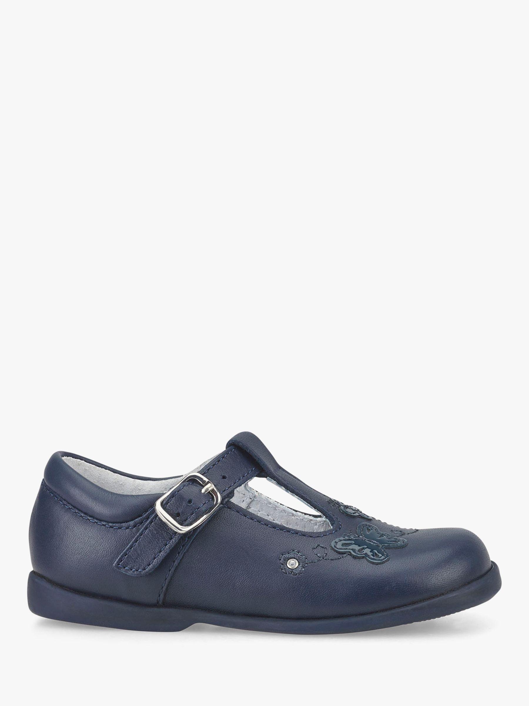 Start-Rite Start-rite Children's Sunshine T-Bar Butterfly Shoes, Navy