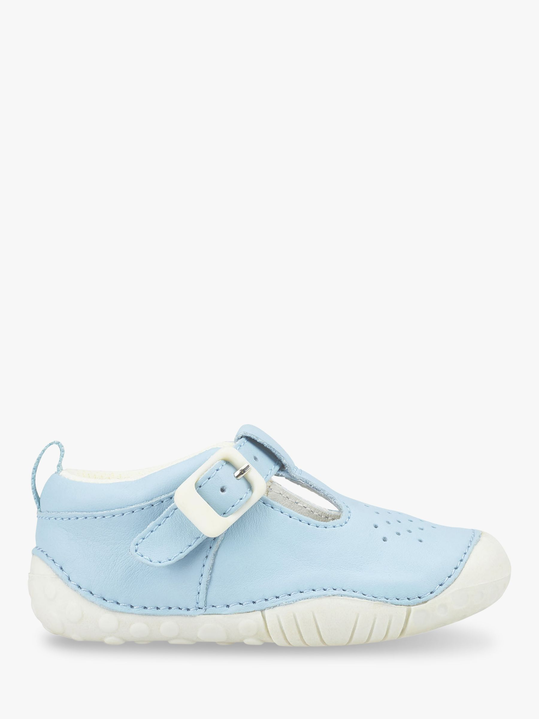 Start-Rite Start-rite Children's Jack T-Bar Buckle Pre-Walker Shoes, Pale Blue