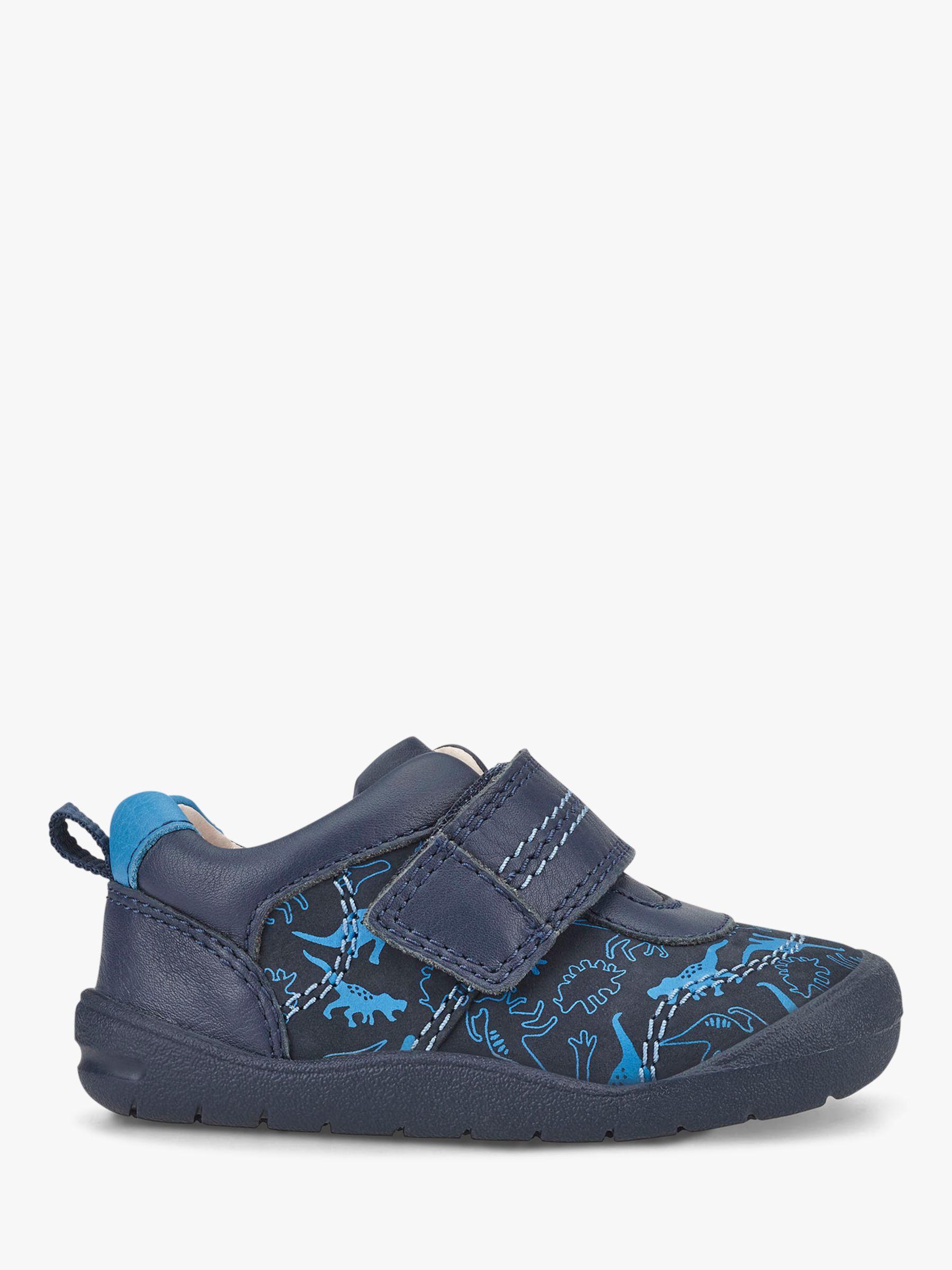 Start-Rite Start-rite Children's Footprint Dino Print Pre-Walker Shoes, Navy