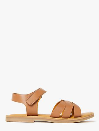 John Lewis & Partners Children's Weave Sandals, Tan