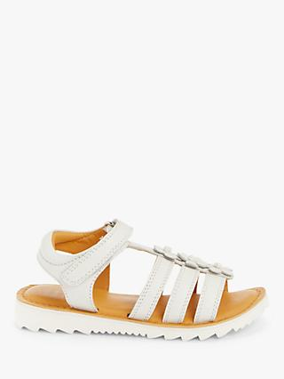 John Lewis & Partners Children's Flower Gladiator Sandals, White