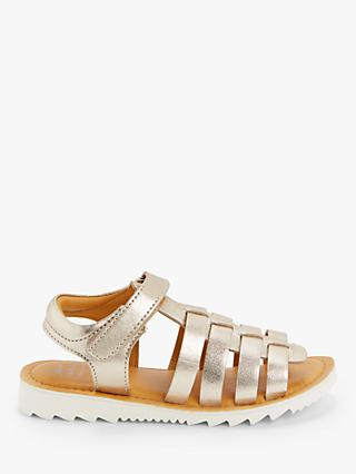 John Lewis & Partners Children's Gladiator Sandals, Gold