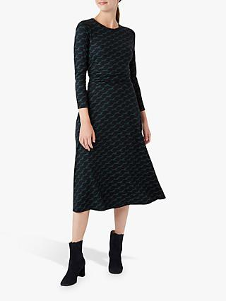 Hobbs Bayview Dress, Navy/Green